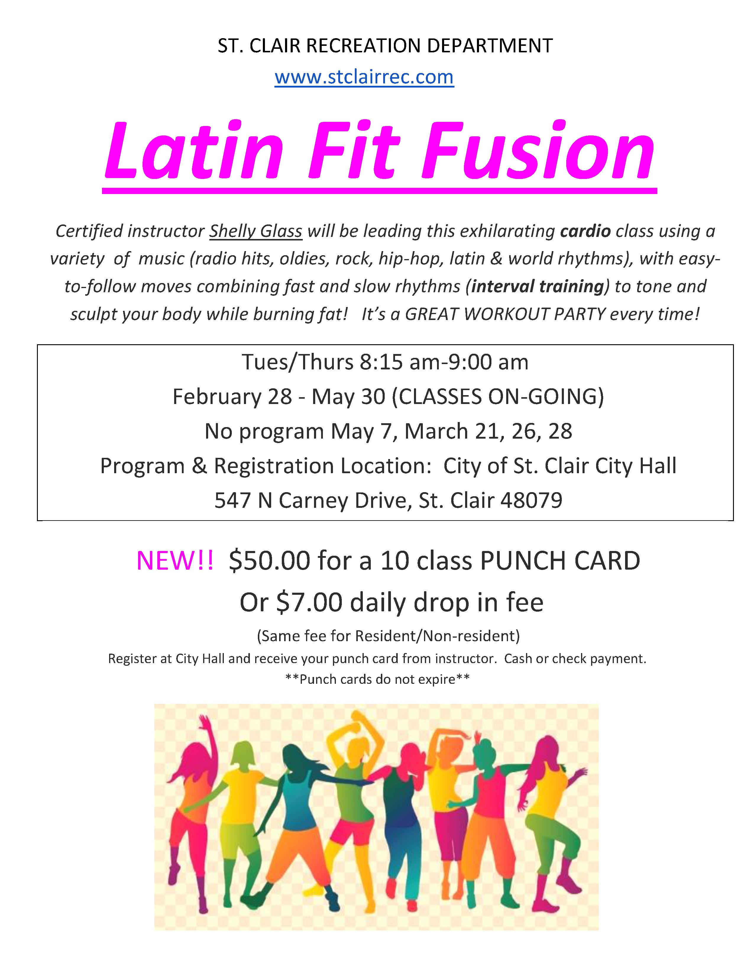 Latin Fit PunchCard